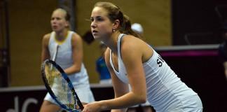 Fed Cup med Rebecca Peterson och Johanna Larsson (Foto: Henrik Gustavsson/SweTennis)