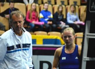 Lars-Anders Wahlgren och Johanna Larsson (Foto: Henrik Gustavsson/SweTennis)