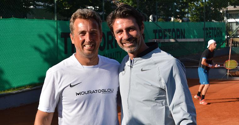 Rickard Billing och Patrick Mouratoglou (Foto: Henrik Gustavsson)