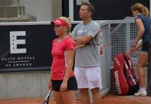 Susanne Celik och coach Rickard Billing (Foto: Henrik Gustavsson/SweTennis)