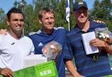 Fair Play-teamet med Pablo Figueroa, Jörgen Windahl och Filip Bergevi (Foto: Henrik Gustavsson/SweTennis)