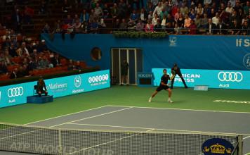 Publiken i Kungliga tennishallen (Foto: Henrik Gustavsson/SweTennis)