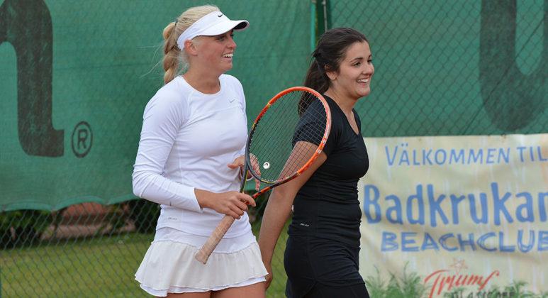 Emma Ek och Emma Milicevic (Foto: Henrik Gustavsson/SweTennis)