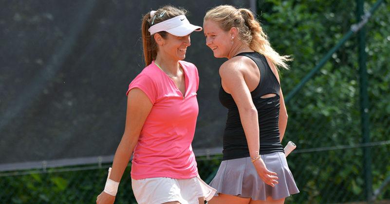 Dejana Radanovic och Fanny Östlund (Foto: Henrik Gustavsson/SweTennis)
