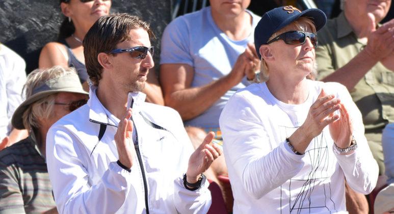 Team Johanna Larsson: Mattias Arvidsson och Erik Ullsten (Foto: Henrik Gustavsson/SweTennis)