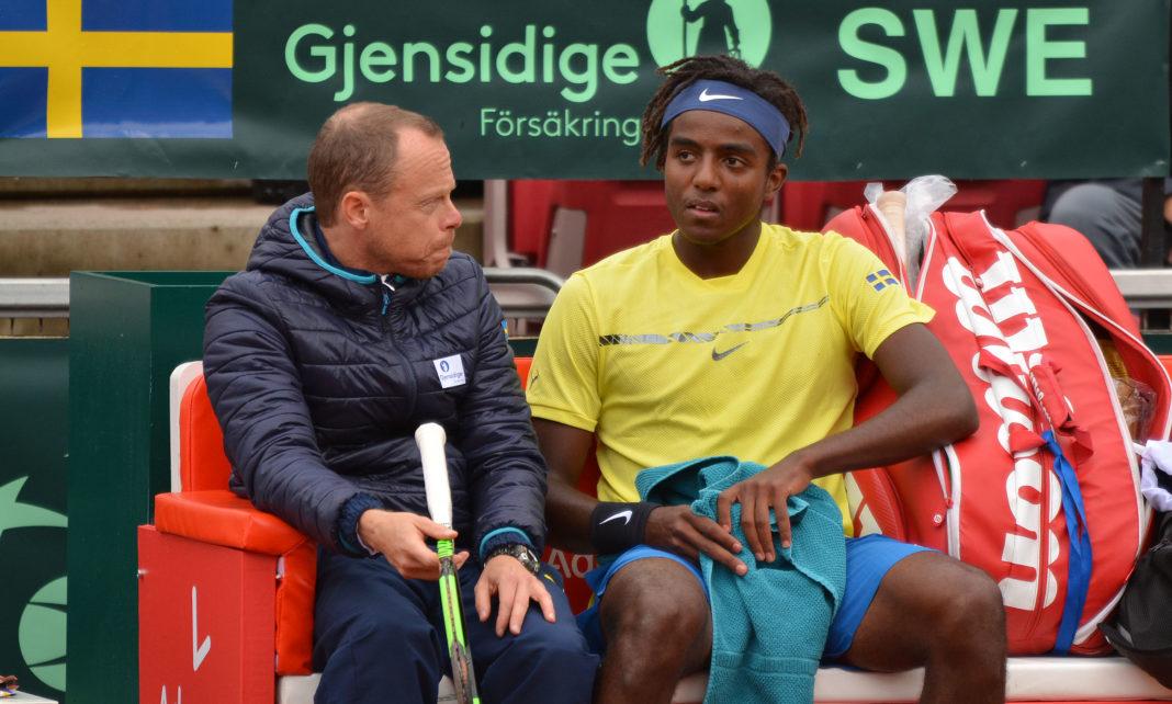 Johan Hedsberg och Elias Ymer (Foto: Henrik Gustavsson/SweTennis)
