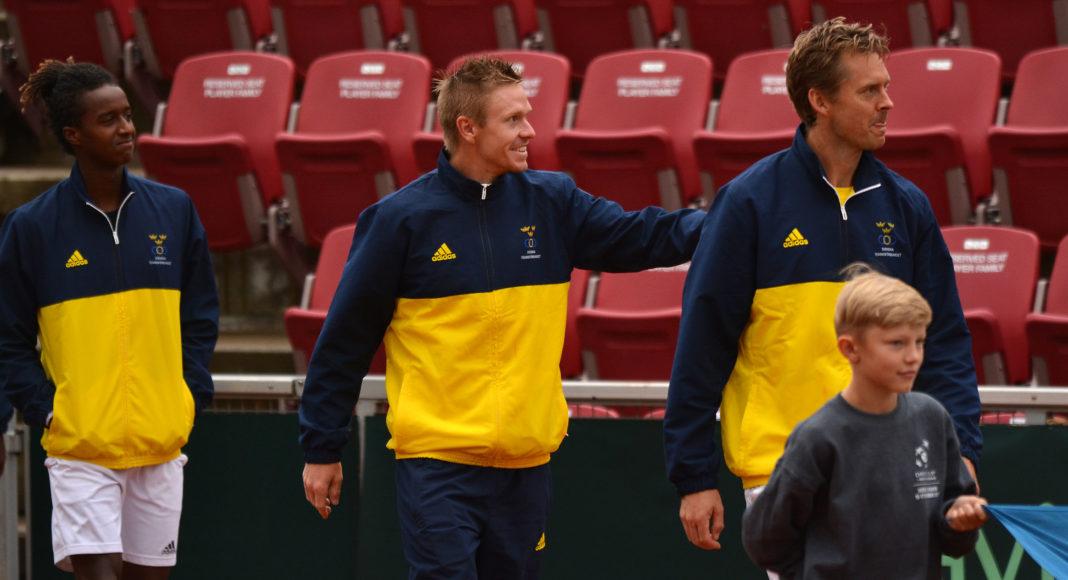 Mikael Ymer, Markus Eriksson, Johan Brunström (Foto: Henrik Gustavsson/SweTennis)