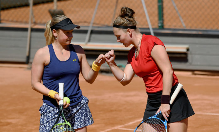 Susanne Celik och Katharina Hering (Foto: Henrik Gustavsson/SweTennis)